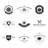 Retro Logotypes vector set Stock Photography