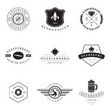 Retro Logotypes vector set Royalty Free Stock Photography