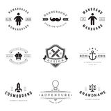 Retro Logotypes vector set Royalty Free Stock Photos