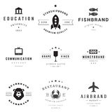 Retro Logotypes vector set Royalty Free Stock Image