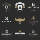 Retro Logotypes vector set. Vintage graphics Royalty Free Stock Photography