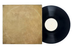 Retro Long Play Vinyl Record with Sleeve. Royalty Free Stock Photos