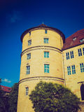 Retro look Altes Schloss (Old Castle), Stuttgart Stock Photos