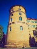 Retro look Altes Schloss (Old Castle), Stuttgart Royalty Free Stock Photos