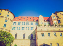 Retro look Altes Schloss (Old Castle), Stuttgart Royalty Free Stock Photography