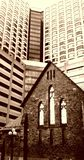 Retro look of Anglican Church of Redemeer in downtown Toronto Stock Photos