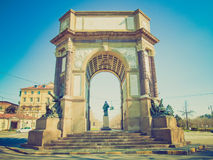 Retro look Arch, Turin Stock Photos