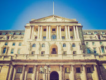 Retro look Bank of England Stock Photos