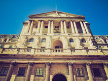 Retro look Bank of England Royalty Free Stock Photos