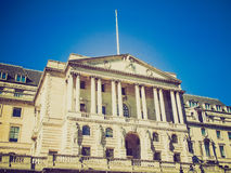Retro look Bank of England Royalty Free Stock Photo