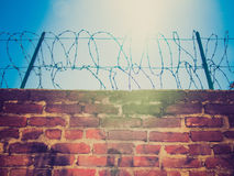 Retro look Barbed wire Stock Image