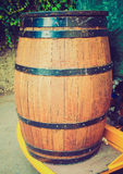 Retro look Barrel cask Stock Photo
