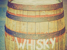 Retro look Barrel cask Royalty Free Stock Photography