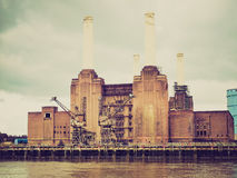 Retro look Battersea Power Station London Stock Photography