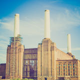 Retro look Battersea Powerstation London Royalty Free Stock Photos