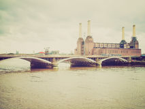 Retro look Battersea Powerstation London Royalty Free Stock Images