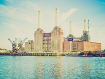 Retro look Battersea Powerstation London Stock Image