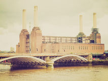 Retro look Battersea Powerstation, London Royalty Free Stock Photo