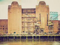 Retro look Battersea Powerstation London Stock Images