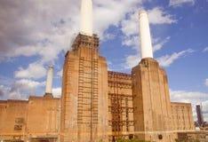 Retro look Battersea Powerstation London Stock Images