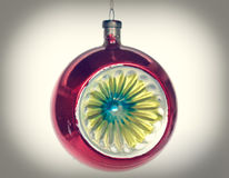 Retro look Bauble picture Royalty Free Stock Images