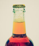 Retro look Beer bottle Stock Photography