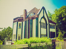 Retro look Behrens House in Darmstadt Stock Images