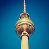 Retro look Berlin Fernsehturm Royalty Free Stock Photo