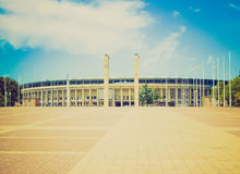 Retro look Berlin Olympiastadion Royalty Free Stock Photos