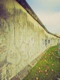 Retro look Berlin Wall Royalty Free Stock Photo
