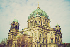 Retro look Berliner Dom Royalty Free Stock Photography