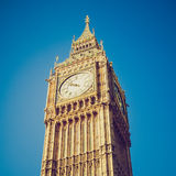 Retro look Big Ben London Royalty Free Stock Images