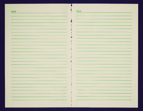 Retro look Blank notebook page Stock Images