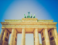 Retro look Brandenburger Tor, Berlin Royalty Free Stock Photography