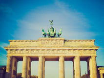 Retro look Brandenburger Tor, Berlin Royalty Free Stock Image