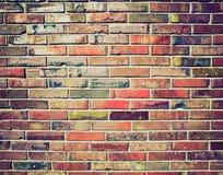 Retro look Brick wall Stock Images