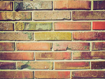 Retro look Brick wall Royalty Free Stock Images