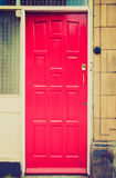 Retro look British door Royalty Free Stock Photos