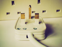 Retro look British Plug Stock Image
