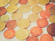 Retro look British pound coin Stock Image