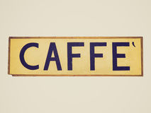 Retro look Caffe sign Stock Photos