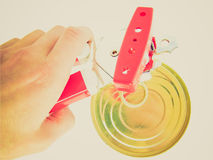 Retro look Can opener Royalty Free Stock Images