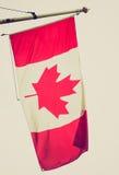Retro look Canada flag Stock Images