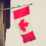 Retro look Canada flag Stock Photos