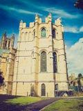 Retro look Canterbury Cathedral Stock Photos