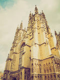 Retro look Canterbury Cathedral Royalty Free Stock Photos