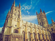 Retro look Canterbury Cathedral Stock Photo