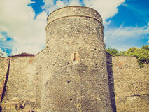 Retro look Canterbury City Walls Royalty Free Stock Photography