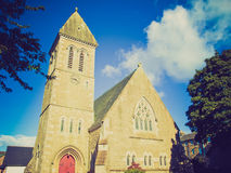 Retro look Cardross parish church Stock Image