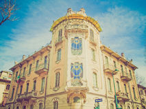 Retro look Casa Fleur Fenoglio, Turin Stock Photo